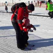 Mé první krůčky na lyžích