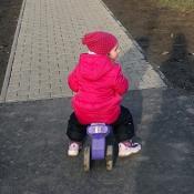 na procházce na motorce
