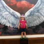 létat jako anděl